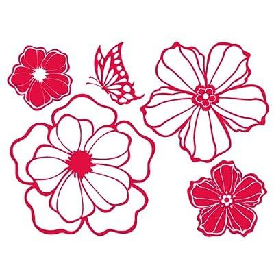 韩国ecoworldgps-039花朵组合(红色)il09140r墙贴