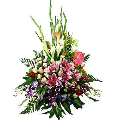花易鲜花速递 中秋节鲜花预定 祝福鲜花花篮 男友生日