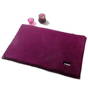 2013 正品 特价 DADA 大达 日式纯色地垫 加厚吸水 防滑浴室卧室门垫脚垫 DAY6紫色 约