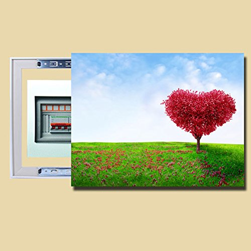 创美馨 爱情树 风景树 轨道可推拉电表箱 装饰画 多媒体箱 冰晶配电箱