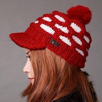 秋冬帽子 冬帽 女款手工编织帽