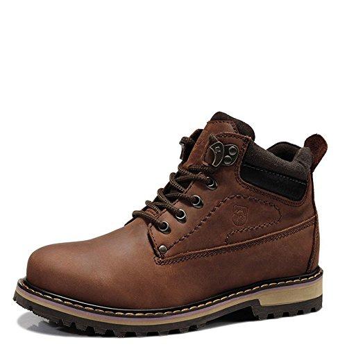 VANCAMEL 西域骆驼 户外工装靴马丁靴男 高帮休闲男靴D1342101040