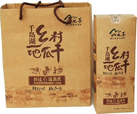 杭州千岛湖山之子 乡村地瓜干组合礼盒 200克x4盒