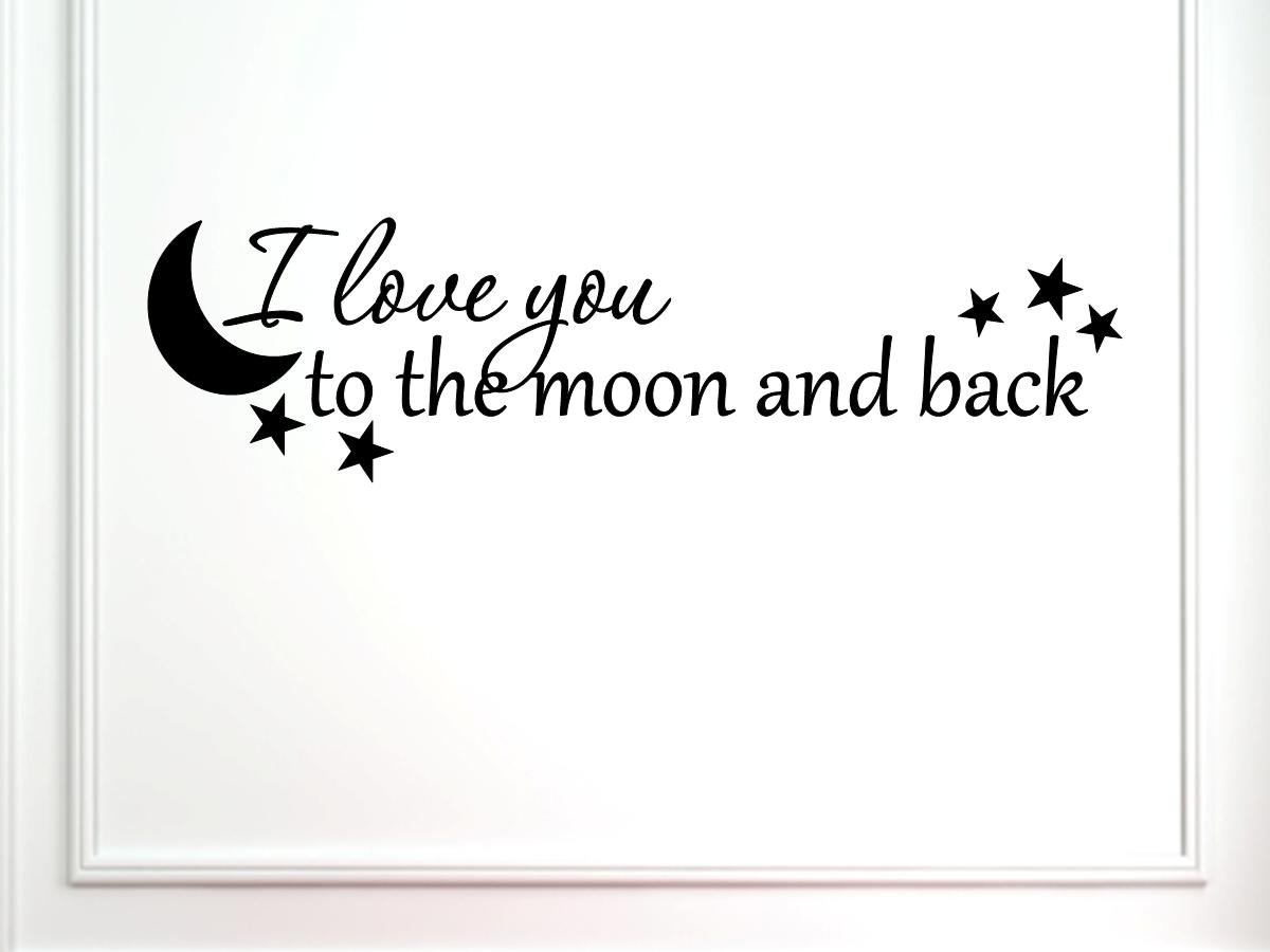 ilove成�yl>{��[�_black -66x18 decal - i love you to the moon and back, 66 x 18-in