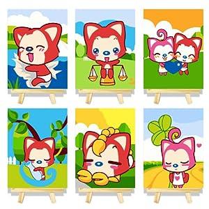 数字油画diy 手绘卡通客厅儿童卡通装饰画 阿狸套装 阿狸系列一套 15*