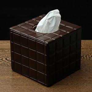 品地 甜蜜浪漫巧克力质感正方形圆筒纸纸巾盒