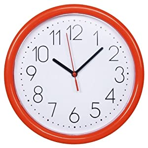 DANNOL 德高 20年出口著名品牌 經典.西瓜紅P1206.WRD挂鍾 10寸(25.4cm)百折膠系列
