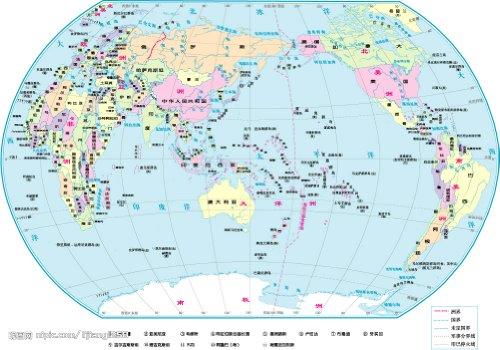 世界地图(星球超全开版1:2600万)