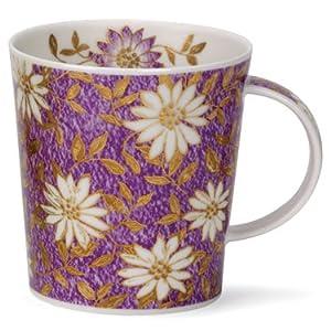 英国DUNOON骨瓷杯0.32L,洛蒙德杯型-雅园.紫(22K黄金饰面),特价促销,英国制造(LO-E-NUO_1)
