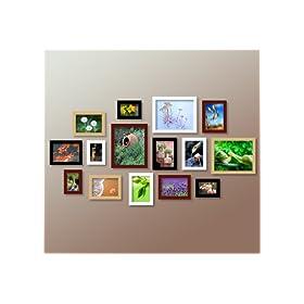 正品AULES傲乐斯15相框实木照片墙组合 149元包邮