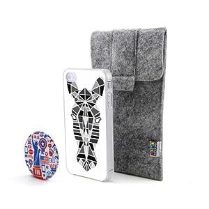 斑马 多边形和线条组合动物头像风格 塑料硬手机壳 手机套 适用于