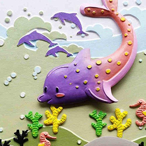 小画匠 diy数字油画海豚总动员海底动漫手绘立体画学生手工画(厂商直