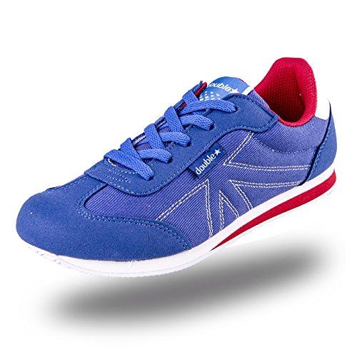 DOUBLE STAR 双星 DSA661米字时尚帆布PU拼接慢跑鞋旅游鞋布鞋男女运动休闲鞋