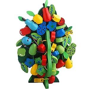 水果树穿线 串串乐果树 认识颜色和水果形状 锻炼宝宝