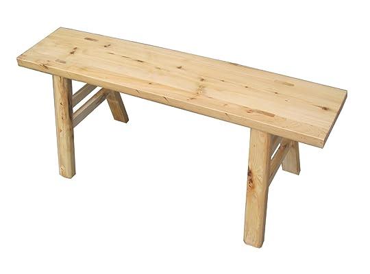 益琳 益琳柏木本色实木长条凳子古典环保置物凳简约时尚宜家双人凳