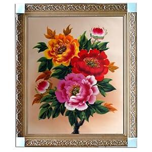 eapey 一品廊 手绘油画 静物花卉油画 牡丹1