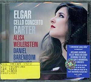 进口cd:埃尔加,卡特大提琴协奏曲 韦勒斯坦(cd)
