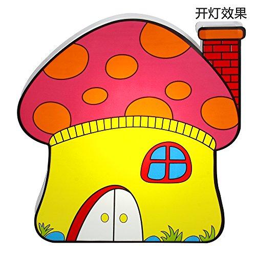蘑菇屋卡通手绘