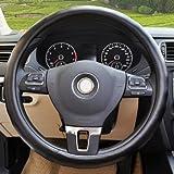 车尚由 金特尔系列仿小羊皮纹方向盘套(方向盘把套 黑色)- 大众高尔夫6代 [上市年份 10年- 今] 专用 超凡质感 舒适手感 奢华品质-图片