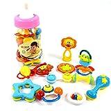 【网上城】大奶瓶罐装摇铃12支装 婴幼儿视觉听觉培养玩具 粉红色 37812-图片