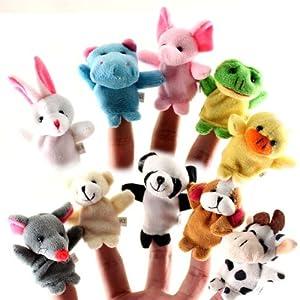 林瀚 迷你可爱小动物指偶 婴幼儿手手指玩偶 毛绒玩具