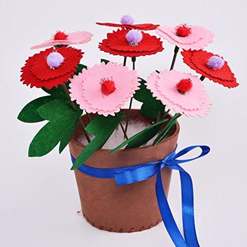 盆栽 手工花朵 节日花篮 (不织布康乃馨)