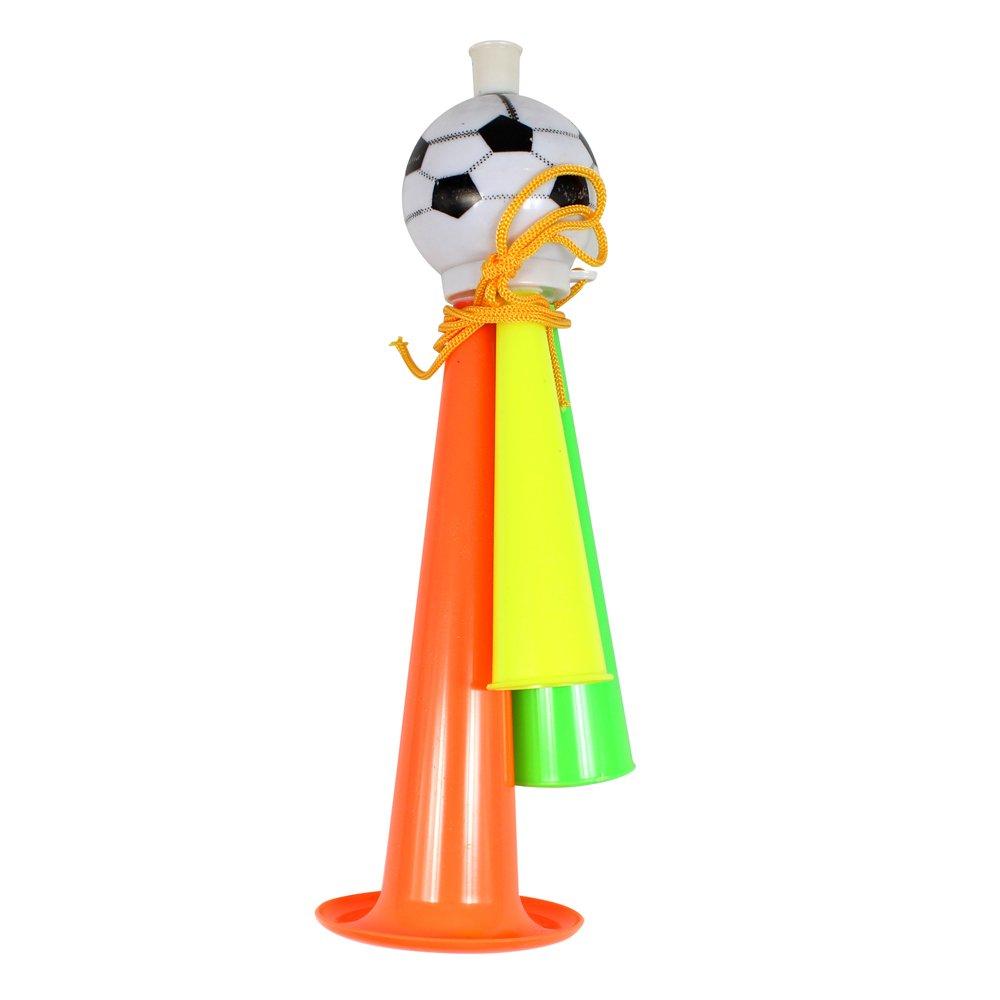 运动会道具晚会世界足球杯球迷加油喇叭演唱会道具三音足球喇叭 (大)