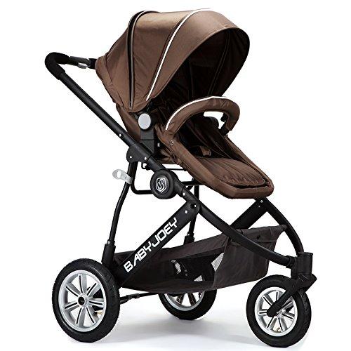 前轮悬浮避震】婴儿手推车【适合0-25kg,约0-3岁,自带避震,5点式安全