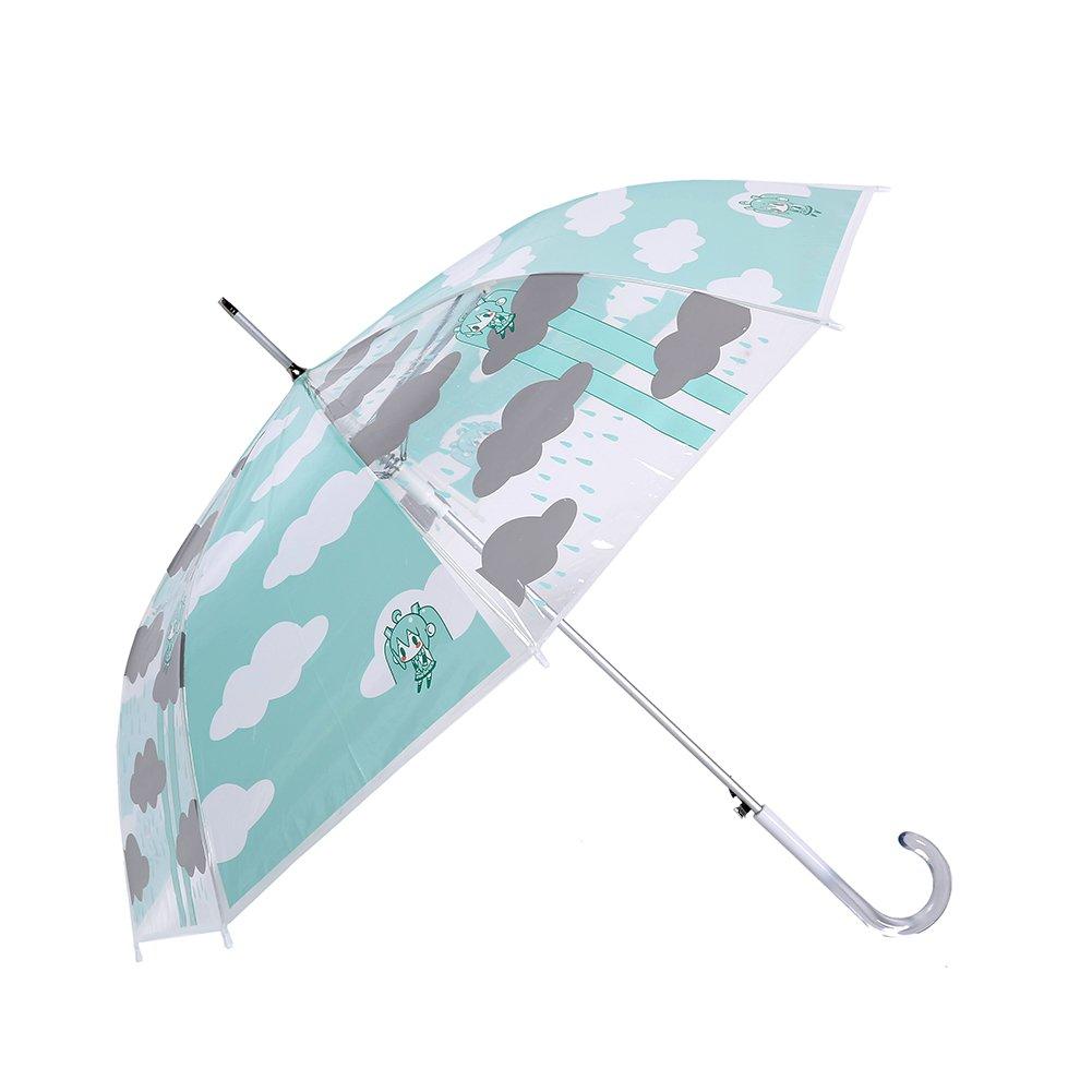 漫记 宫崎骏创意个性透明雨伞 长柄伞 清新可爱女士油