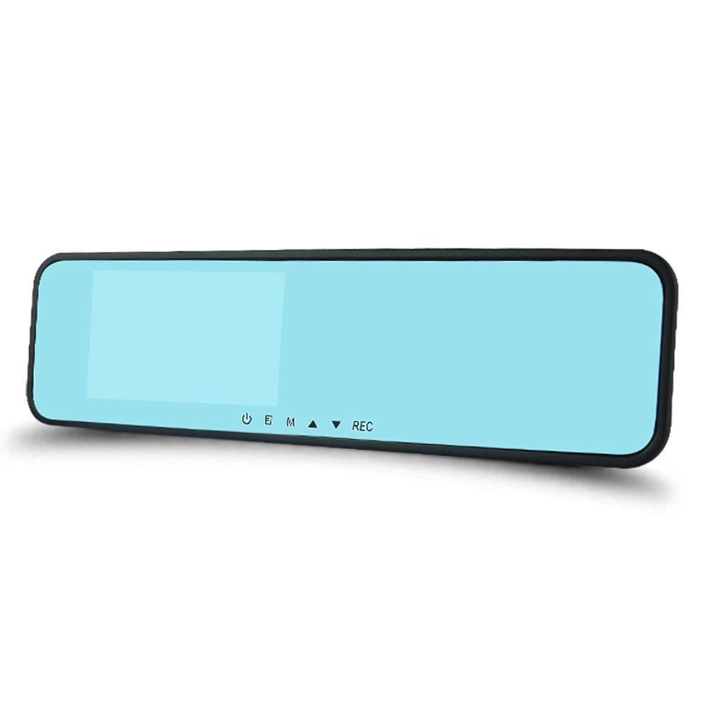 平安一号 汽车后视镜行车记录仪 双镜头高清1080p 防炫目蓝镜 超强