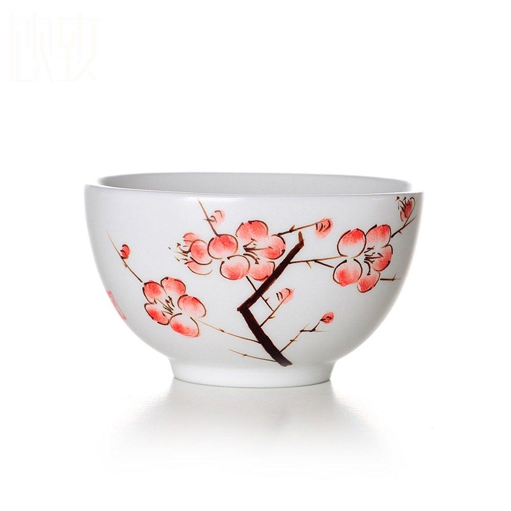 饮致 景德镇手绘 定窑 茶杯 品茗杯 品杯 陶瓷 杯子 功夫 茶具 单个
