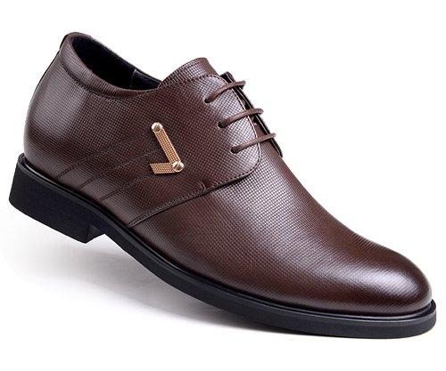 GOG(高哥) 高哥WZ869 新款真皮男增高皮鞋  正装内增高6.5cm