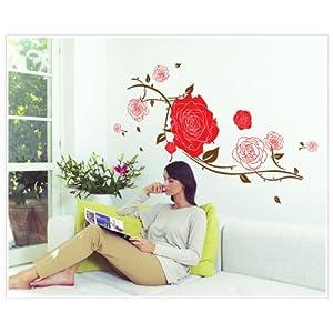卧室 玫瑰花贴画