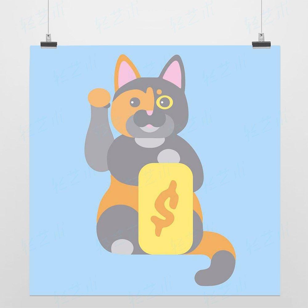 卡通招财猫插画