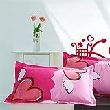 Deibs 黛芭莎 亲肤 床上用品 100%纯棉家纺 枕芯套 枕头套 (一对) 枕套-天使之星-图片