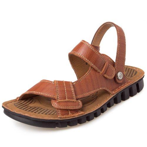 CAMEL 骆驼 时尚舒适头层牛皮 运动凉鞋休闲鞋 真皮男鞋 户外沙滩鞋拖鞋