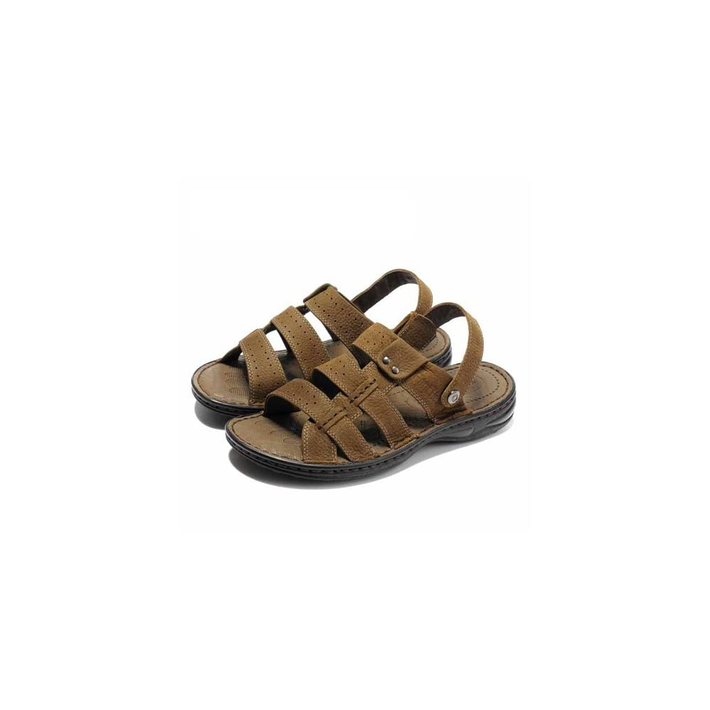 休闲男士凉鞋磨砂皮凉鞋沙滩鞋