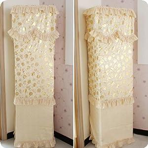 尚品屋 高档欧式烫金立式柜机空调罩防尘罩 柜机罩 立式空调套 (富贵