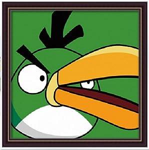 车田 儿童数字油画新品diy手绘 动物连连看愤怒大嘴鸟20x20 卡通彩绘