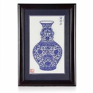 weilong 伟龙 手工剪纸 青花瓷剪纸012 蓝色 44*31cm