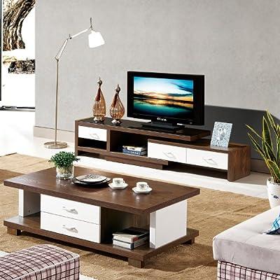 蔓斯菲尔 现代简约木质烤漆茶几桌子 实木贴皮 黑木色
