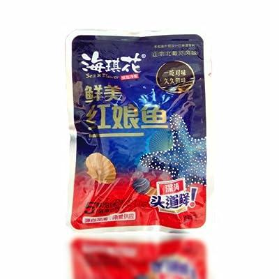 海琪花 裕达 秦皇岛北戴河特产 深海 即食红娘鱼干 办公室零食 250g