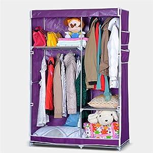 arric 艾睿客 双挂式组合衣柜 双向拉链布衣柜2504 (紫色 103*45*158