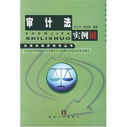 审计法实例说/法律法规实例说丛书