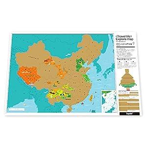 地图背面提供线描的中国地图