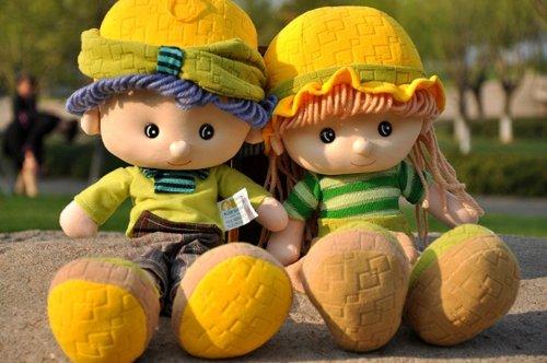 大眼猫 雅皮士布娃娃可爱玩具送儿子女儿情侣男女朋友