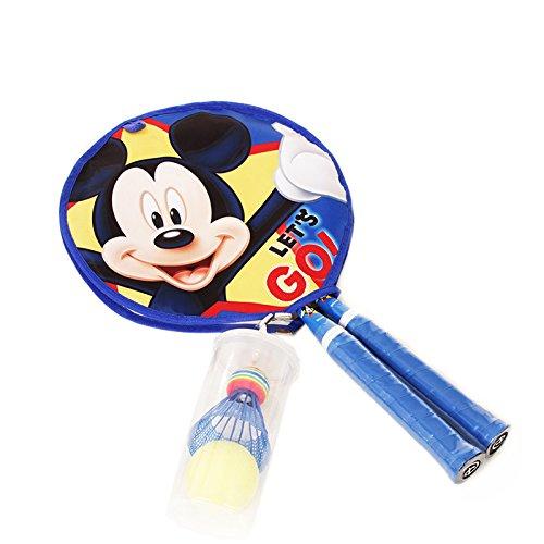 disney 迪士尼 米奇儿童大圆拍 可爱闪光球拍 送羽毛球 闪光球 dda5
