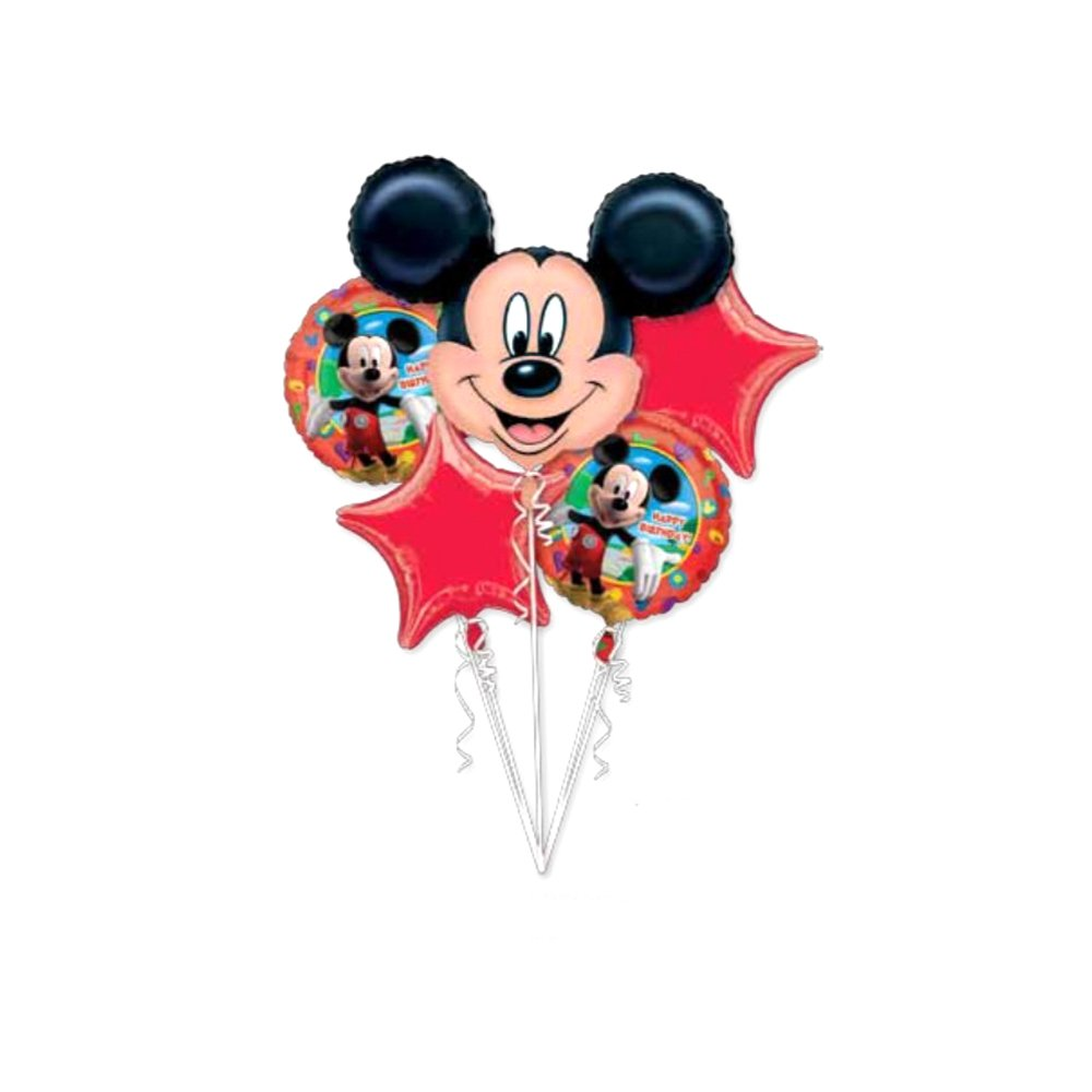 迪士尼 米奇造型铝膜气球5个套装