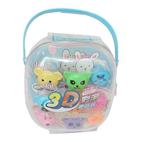 chicco 智高 kk智高3d彩泥彩色魔法粘土12色飞机蜻蜓橡皮泥 儿童玩具
