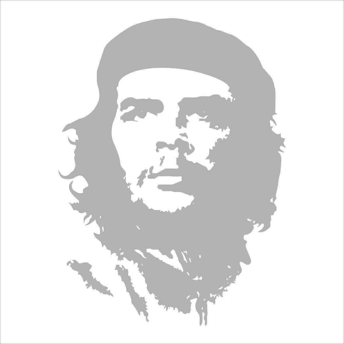 sk 深卡 个性切格瓦拉人物贴纸 系列01款 黑色 25厘米